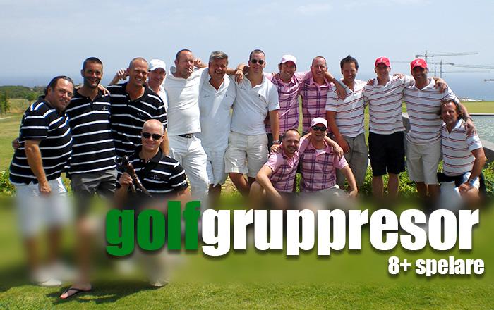 Få offert på gruppresor för golfare.